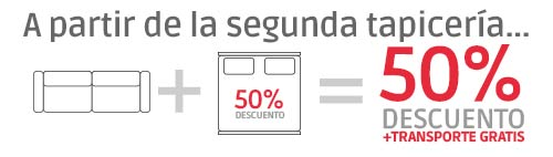 oferta segunda tapicería 50% descuento