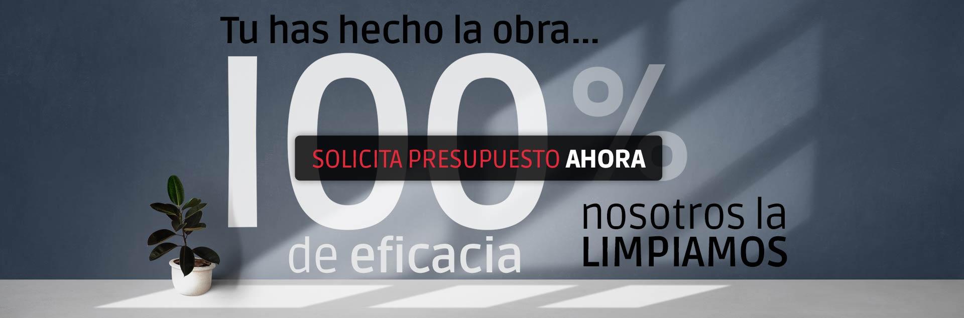 Eliminamos el 100% del polvo